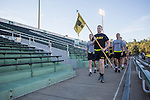 Cadets in Ohio University's ROTC program begin the 9/11 Stair Challenge Event at Peden Stadium on Sept. 11, 2016.