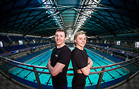 Picture by Alex Whitehead/SWpix.com - 15/03/2017 - Swimming - British Swimming Championships 2017 Preview - Ponds Forge, Sheffield, England - Brothers and City of Sheffield swimmers, Max (L) and Joe Litchfield (R) pictured to preview the upcoming British Swimming Championships.