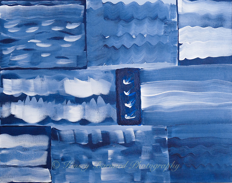 A study in blue and white. A sampler if you will.