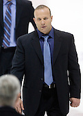 Greg Cronin (NU - Head Coach) - The Northeastern University Huskies defeated the Boston College Eagles 3-2 on Friday, February 19, 2010, at Matthews Arena in Boston, Massachusetts.