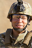 Soldier in the desert, model released and property released.  Solider wears Multicam uniform.