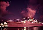Festivale cruise ship at dusk in San Juan