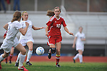 Oxford High vs. Lafayette High's Kylie Glass (10) in girls high school soccer in Oxford, Miss. on Saturday, December 8, 2012. Oxford won 1-0.