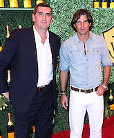 PACIFIC PALISADES, CA, USA - OCTOBER 11: Jean-Marc Gallot, Nacho Figueras arrive at the 5th Annual Veuve Clicquot Polo Classic held at Will Rogers State Historic Park on October 11, 2014 in Pacific Palisades, California, United States. (Photo by Xavier Collin/Celebrity Monitor)