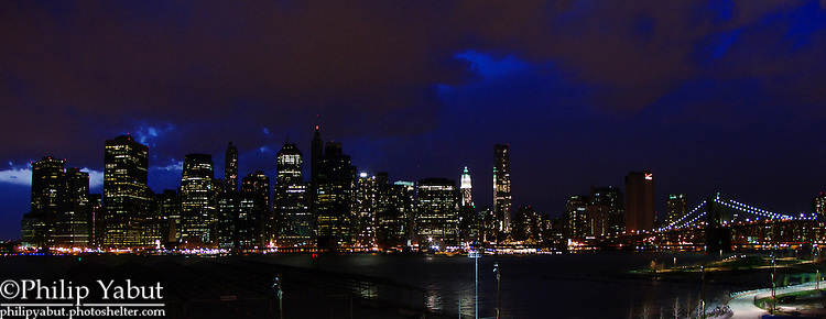 New York City's Lower Manhattan skyline, from Brooklyn Heights.
