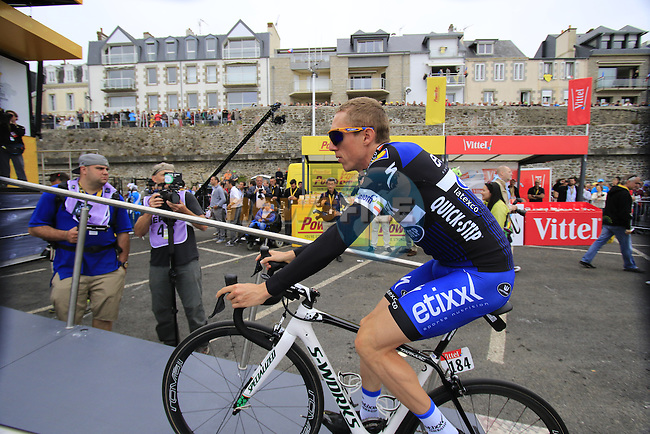 Dan Martin (IRL) Etixx-Quick Step at sign on before the start of Stage 3 of the 2016 Tour de France, running 223.5km from Granville to Angers, France . 4th July 2016.<br /> Picture: Eoin Clarke | Newsfile<br /> <br /> <br /> All photos usage must carry mandatory copyright credit (&copy; Newsfile | Eoin Clarke)