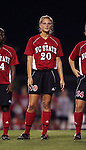 NC State's Megan Buescher on Thursday, October 20th, 2005 at Fetzer Field in Chapel Hill, North Carolina. The University of North Carolina Tarheels defeated the North Carolina State University Wolfpack 1-0 during an NCAA Division I Women's Soccer game.
