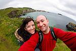 Allison and I on Carickarede Island in Ballintoy, County Antrim, Northern Ireland on Saturday, June 22nd 2013. (Photo by Brian Garfinkel)