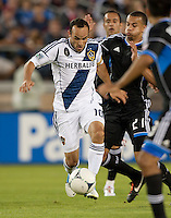 Stanford, California - Saturday June 30, 2012: Landon Donovan Works his way down the field during a game at Stanford Stadium, Stanford, Ca.San Jose Earthquakes defeated Los Angeles Galaxy,  4 to 3