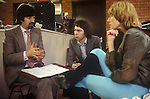 Trevor Nunn, Andrew lloyd Webber, Gillian Lynn, discussing the production of Cats. 1980s. London...