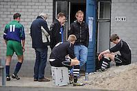 VOETBAL: ALDEBOARN:  14-04-2013, Eredivisie 2012-2013, Oldeboorn - Aengwirden, degradatiewedstrijd 4e klasse A, Eindstand 2-3, ©foto Martin de Jong
