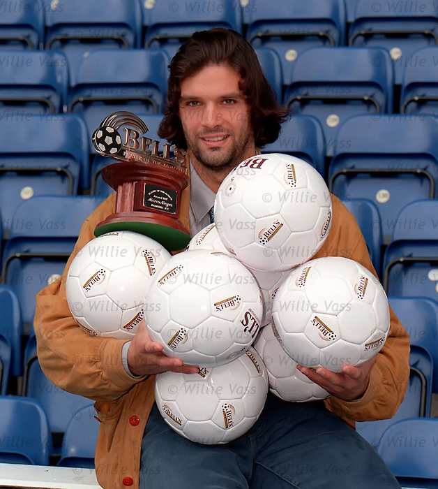 Marco Negri is the Bell's player of the month after scoring seven goals in two matches for Rangers