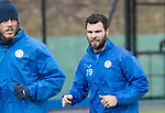 St Johnstone Training&hellip;.31.03.17<br />Richie Foster pictured training alongside Murray Davidson on the astroturf at McDiarmid Park this morning ahead of tomorrow&rsquo;s game at Hamilton.<br />Picture by Graeme Hart.<br />Copyright Perthshire Picture Agency<br />Tel: 01738 623350  Mobile: 07990 594431