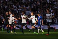 Tottenham Hotspur's Dele Alli celebrates scoring his sides equalising goal to make the score 2-2      <br /> <br /> <br /> Photographer Craig Mercer/CameraSport<br /> <br /> Emirates FA Cup Semi-Final - Chelsea v Tottenham Hotspur - Saturday 22nd April 2017 - Wembley Stadium - London<br />  <br /> World Copyright &copy; 2017 CameraSport. All rights reserved. 43 Linden Ave. Countesthorpe. Leicester. England. LE8 5PG - Tel: +44 (0) 116 277 4147 - admin@camerasport.com - www.camerasport.com