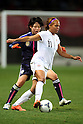 (L to R) Saki Kumagai (JPN), Sydney Leroux (USA), .April 1, 2012 - Football / Soccer : .KIRIN Challenge Cup 2012 .Match between Japan 1-1 USA .at Yurtec Stadium Sendai, Miyagi, Japan. .(Photo by Daiju Kitamura/AFLO SPORT) [1045]..