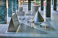 Michael Heizer North East South West in downtown Los Angeles, Citigroup Center, Citicorp, Los Angeles, CA,  Architectural, Buildings,