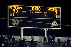 Nov. 17, 2012; The scoreboard after the Wake Forest game.