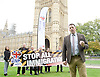Adam Walker (Chair) speaks at BNP Rally on Immigration outside Parliament, Westminster, London, Great Britain <br />