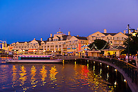 Disney's Board Walk at twilight, Walt Disney World, Orlando, Florida USA