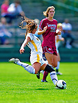 19 September 2010: University of Vermont Catamount defender Becky DeSieno, a Junior from Abington, MA, in action against the Colgate University Raiders at Centennial Field in Burlington, Vermont. The Raiders scored a pair of second half goals two minutes apart to notch a 2-0 victory over the Lady Cats in non-conference women's soccer play. Mandatory Credit: Ed Wolfstein Photo
