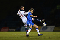 Bolton Wanderers' Gary Madine and Gillingham's Jake Hessenthaler<br /> <br /> Photographer Rob Newell/CameraSport<br /> <br /> The EFL Sky Bet League One - Gillingham v Bolton Wanderers - Tuesday 14th March 2017 - MEMS Priestfield Stadium - Gillingham<br /> <br /> World Copyright &copy; 2017 CameraSport. All rights reserved. 43 Linden Ave. Countesthorpe. Leicester. England. LE8 5PG - Tel: +44 (0) 116 277 4147 - admin@camerasport.com - www.camerasport.com