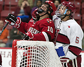 Ryan Lough (SLU - 10), Clay Anderson (Harvard - 5) - The Harvard University Crimson defeated the St. Lawrence University Saints 6-3 (EN) to clinch the ECAC playoffs first seed and a share in the regular season championship on senior night, Saturday, February 25, 2017, at Bright-Landry Hockey Center in Boston, Massachusetts.