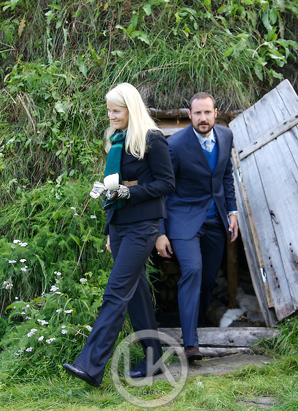 "Crown Prince Haakon, and Crown Princess Mette-Marit of Norway on a three day visit to "" North Troms "", in Northern Norway, visit Manndalen."