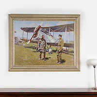 "Boucher: Airplane American Liberty, Digital Print, Image Dims. 33"" x 35, Framed Dims. 44"" x 55"""