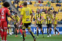 Andrew Durante during the A League - Wellington Phoenix v Adelaide United, Wellington, New Zealand on Sunday 30 March 2014. <br /> Photo by Masanori Udagawa. <br /> www.photowellington.photoshelter.com.