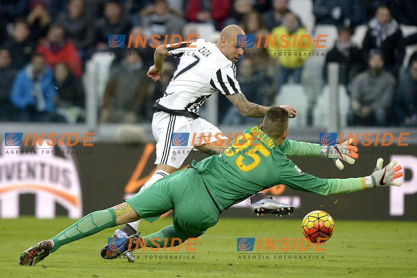 Simone Zaza Juventus gol 3-0, goal celebration,<br /> Torino 06-01-2016, Juventus Stadium, Football Calcio 2015/2016 Serie A, Juventus - Verona, Foto Filippo Alfero/Insidefoto