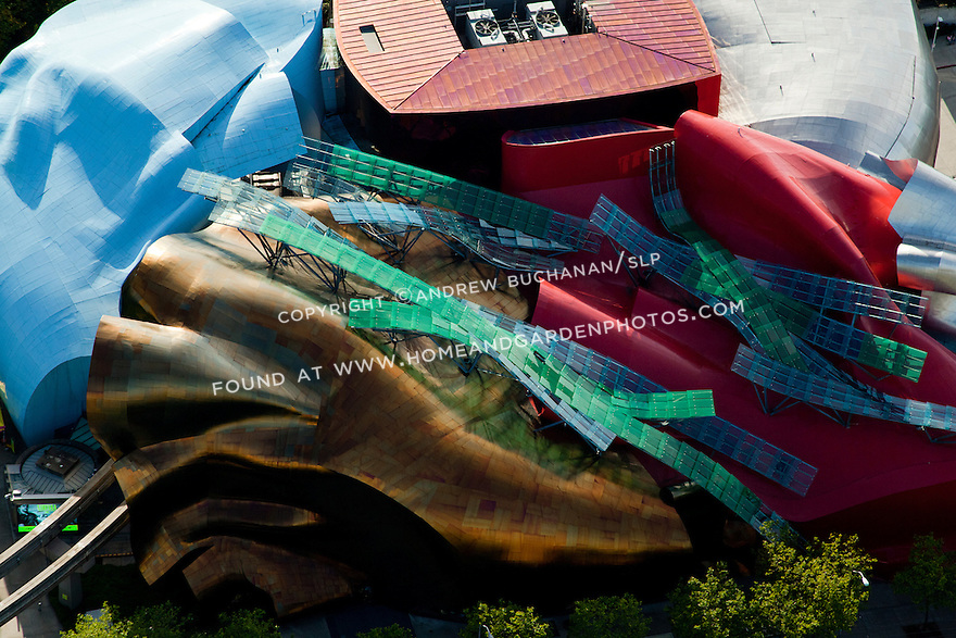 the roof of the Frank Gehry-designed Experience Music Project (EMP) at Seattle Center; Seattle, WA