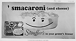 Client: Stouffers Foods<br /> Ad Agency: Ketchum, MacLeod @ Grove<br /> Contact: Dana Gilpin<br /> Product: Stouffer's Macaroni and Cheese<br /> Location: Brady Stewart Studio, 725 Liberty Avenue in Pittsburgh   <br /> <br /> The Stouffer family's frozen food business began in the 1940s, when customers started asking for frozen versions of the meals served in the restaurants. The Stouffers sold their company to Litton Industries in 1967, who in turn sold it to Nestl&eacute; in 1973. Nestle Foods has created a campus-like area at the headquarters in Solon, Ohio.