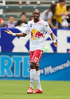NY RedBulls forward Macoumba Kandji (10) reacts to narrowly missing a goal. Chivas USA defeated the Red Bulls of New York 2-0 at Home Depot Center stadium in Carson, California April 10, 2010.  .