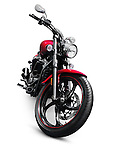 2013 Yamaha Star V 1300 motorbike. Isolated motorcycle on white background with clipping path