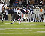 Ole Miss running back Jeff Scott (3) vs. Texas A&amp;M linebacker Steven Jenkins (45) at Vaught-Hemingway Stadium in Oxford, Miss. on Saturday, October 6, 2012. Texas A&amp;M rallied from a 27-17 4th quarter deficit to win 30-27.