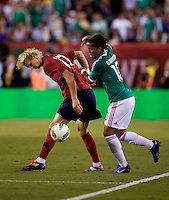 Brek Shea, Giovani dos Santos. The USMNT tied Mexico, 1-1, during their game at Lincoln Financial Field in Philadelphia, PA.