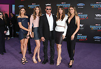 """HOLLYWOOD, CA - April 19: Scarlet Rose Stallone, Sistine Rose Stallone, Sylvester Stallone, Jennifer Flavin, Sophia Rose Stallone, At Premiere Of Disney And Marvel's """"Guardians Of The Galaxy Vol. 2"""" At The Dolby Theatre  In California on April 19, 2017. Credit: FS/MediaPunch"""