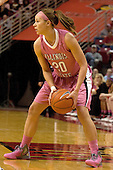 12 February 2012:  Katie Broadway during an NCAA women's basketball game Where the Bradley Braves lost to the Illinois Sate Redbirds 82-63.  It was Play 4Kay day in honor of the cancer research fund set up by Coach Kay Yow at Redbird Arena in Normal IL