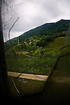 The view from the Dutch officer's quarters at the Potocari battery factory outside of Srebrenica.