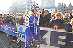 Julien Vermote (BEL) Quick-Step Floors team at sign on before the 101st edition of the Tour of Flanders 2017 running 261km from Antwerp to Oudenaarde, Flanders, Belgium. 26th March 2017.<br /> Picture: Eoin Clarke | Cyclefile<br /> <br /> <br /> All photos usage must carry mandatory copyright credit (&copy; Cyclefile | Eoin Clarke)