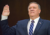 United States Representative Mike Pompeo (Republican of Kansas) is sworn-in to testify before the US Senate Select Committee on Intelligence during a confirmation hearing on his nomination to be Director of the Central Intelligence Agency (CIA) on Capitol Hill in Washington, DC on Thursday, January 12, 2017.<br /> Credit: Ron Sachs / CNP