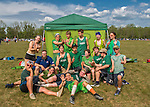 22 May 2016: The Vermont Commons School Flying Turtles celebrate winning the Open B Division of the Pioneer Valley Ultimate Disk Invitational Tournament at the Oxbow Marina Fields in Northampton, Massachusetts. Mandatory Credit: Ed Wolfstein Photo *** RAW (NEF) Image File Available ***