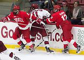Yanni Kaldis (Cornell - 8), Ty Pelton-Byce (Harvard - 11), Connor Murphy (Cornell - 12) - The Harvard University Crimson defeated the visiting Cornell University Big Red on Saturday, November 5, 2016, at the Bright-Landry Hockey Center in Boston, Massachusetts.