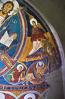 Romanesque frescoes from the Church of Sant Clement de Taull, Vall de Boi, Alta Ribagorca, Spain. Painted around 1123..  National Art Museum of Catalonia, Barcelona. MNAC 15806