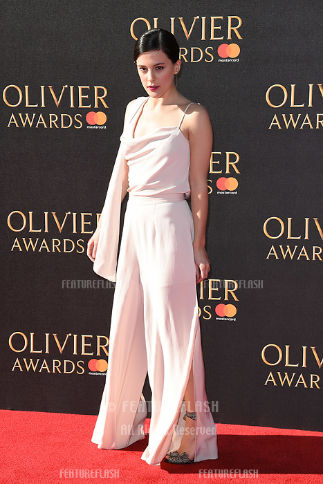 Phoebe Fox at The Olivier Awards 2017 at the Royal Albert Hall, London, UK. <br /> 09 April  2017<br /> Picture: Steve Vas/Featureflash/SilverHub 0208 004 5359 sales@silverhubmedia.com