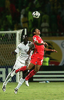 The United States' Ike Opara (16) loses the header to South Korea's Hee Seong Park (20)  during the FIFA Under 20 World Cup Group C match between the United States and South Korea at the Mubarak Stadium on October 02, 2009 in Suez, Egypt. The US team lost 3-0.