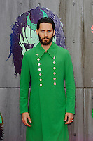 LONDON, ENGLAND - AUGUST 3: Jared Leto attending the 'Suicide Squad' European Premiere at Odeon Cinema, Leicester Square on August 3, 2016 in London, England.<br /> CAP/MAR<br /> &copy;MAR/Capital Pictures /MediaPunch ***NORTH AND SOUTH AMERICAS ONLY***