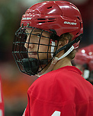 Alex Rauter (Cornell - 4) - The Harvard University Crimson defeated the visiting Cornell University Big Red on Saturday, November 5, 2016, at the Bright-Landry Hockey Center in Boston, Massachusetts.