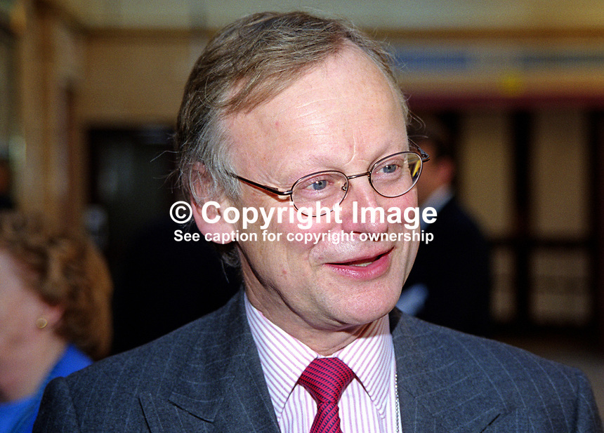 John Selwyn Gummer, MP, Conservative Party, former minister, Britain, UK. Taken at Conservative Party Conference, Blackpool. Ref: 199910004.<br />