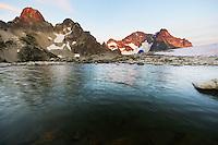 Black Peak and Fisher Lakes, North Cascades National Park, Skagit County, Washington, USA